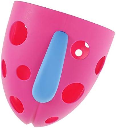 幼児 入浴用 収納ボックス 収納ケース 浴室壁掛け おもちゃ収納 吸盤&自己掛けフック ピンク