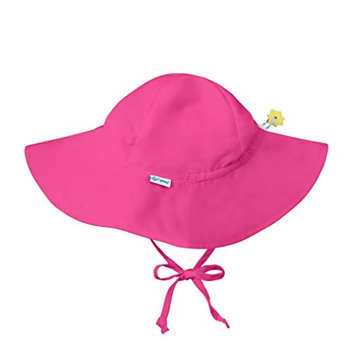 i play. Baby Toddler Solid Brim Sun Protection Hat, Hot Pink, - Caps Aware