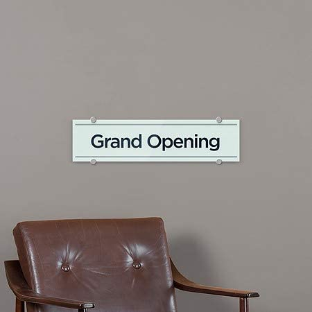 Basic Teal Premium Acrylic Sign CGSignLab 5-Pack 24x6 Grand Opening