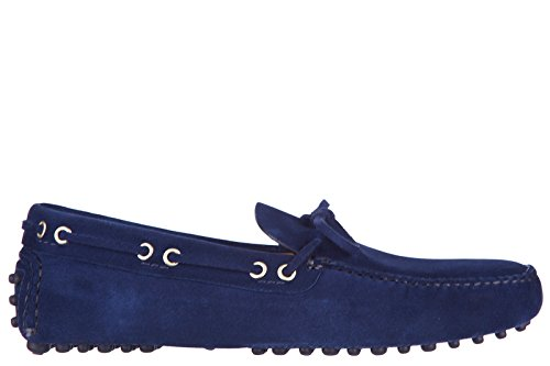 Car Shoe mocassins homme en daim blu
