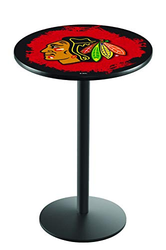Holland Bar Stool Co. Chicago Blackhawks Pub Table w/Red ()