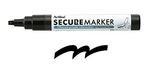 Artline 35305 Secure Redacting Marker, Special Black Ink that Obscures Private Information (Tags Plastic Valve)