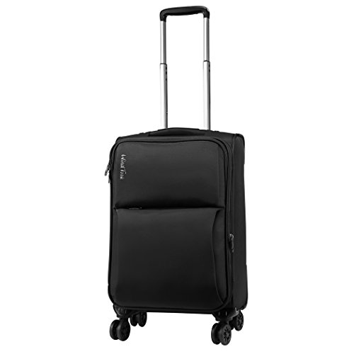 WindTook 20 Inch Expendable Spinner Carry On Suitcase Luggage with Spinner Wheels Black