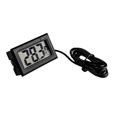 TD-ELECTRO 10PCS/LOT LCD Display Car Refrigerator Aquarium Fish Tank Embedded Electronic Digital Thermometer by TD-ELECTRO