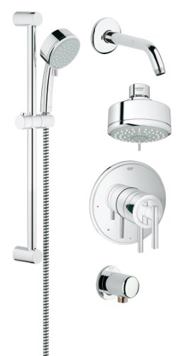 Grohflex Timeless 4-Spray 2-Function Pressure Balance Shower System - 20 Gpm