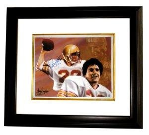 b66712b47 Signed Doug Flutie Photograph - Boston College 11X14 Dual Sig Heisman Custom  Framed - Autographed College