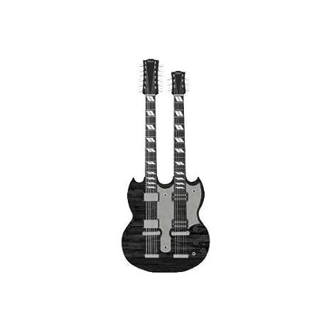 Imán para nevera negro guitarra eléctrica: Amazon.es: Instrumentos ...