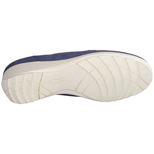 Chemin de forêt haneen 34850–162–Confortable chaussures/sans insert Chaussures pour Femme Confortable Ballerine/pantoufles, bleu, Soft de Cuir (Nubuck)