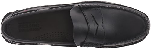 Sebago Mens Sloop Slip-on Mocassino Nero Cerato Oliato