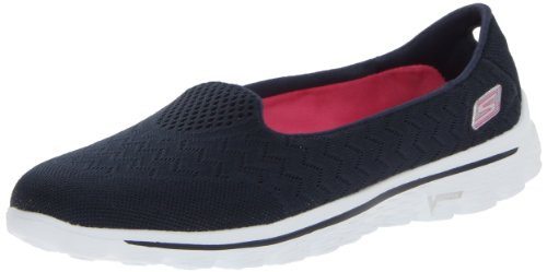 Skechers GO Walk 2 Axis Damen Sneakers Navy/Pink