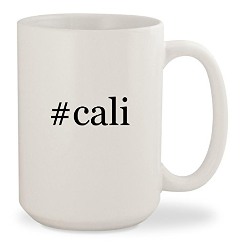 #cali - White Hashtag 15oz Ceramic Coffee Mug Cup Skechers Girls Cali Gear