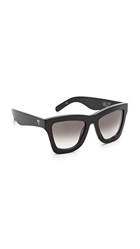 Valley Eyewear Women's DB Sunglasses, Gloss Black/Black, One - Eyewear Valley Sunglasses