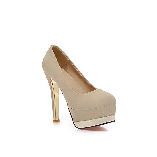 Balamasa Girls Talons Hauts Slip Xi Shi Velluto Pumps-shoes, Beige (beige), 35