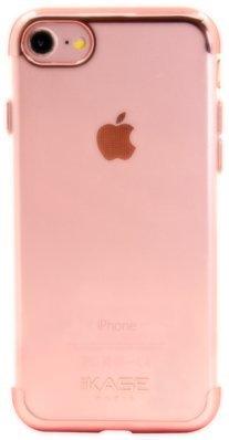 Coque en silicone métallisé invisible pour Apple iPhone 7, Rose