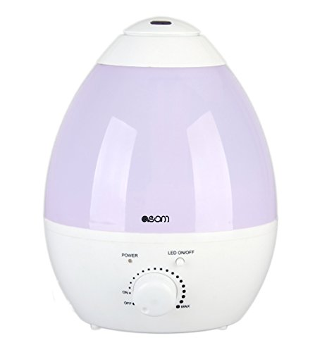 Ultrasonic Cool Mist Humidifier, Essential Oil Diffuser, Premium Humidifying Unit, Whisper Quiet Operation, 2.8 L Automatic Shut-off, 7 Color LED Night Light Function