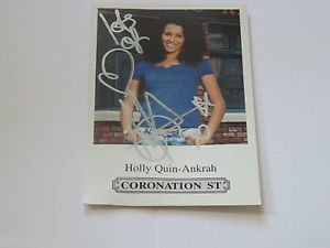 Geoff Cooper Holly Quin Ankrah Coronation Street Hand Signed Cast Card Mint Uacc Coa