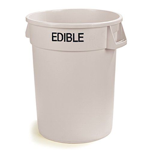 UltraSource Commercial Waste Container, 32 gal,Edible, White - Food Grade Drums