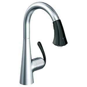 Grohe 32 298 kd0 ladylux caf main sink dual spray pull down kitchen faucet stainless steel - Grohe kitchen faucets amazon ...