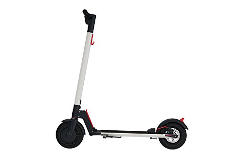 GOTRAX GXL Commuting Electric Scooter - 8.5' Air Filled Tires - 15.5MPH & up to 12mile Range (White)