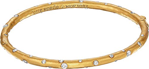 Kate Spade New York Women's Elegant Edge Stone Bangle Clear/Gold One Size