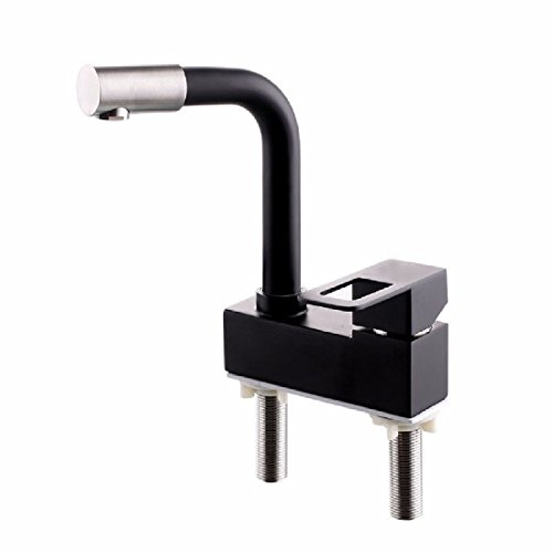 3 Matt Light Nickel - AQiMM CommercialBathroomSinkFaucet Vanity Faucet 304 Stainless Steel Hot And Cold Water 2 Lever2 Holes 3 Holes Baking Paint Black Matt Light Frosted Sink Mixer Tap For Lavatory BasinMixerTap