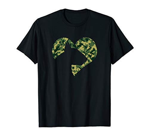 English Bull Terrier Dog Lover Camouflage Gift T-Shirt