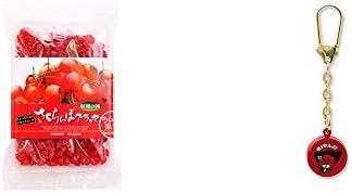 [2点セット] 収穫の朝 さくらんぼグラッセ ラム酒風味(180g)・さるぼぼ 身代り鈴 キーホルダー 【赤】/ 魔除け おまもり//