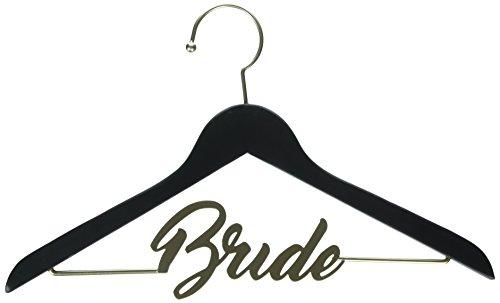 (David Tutera 30021641 Dirt Black and Gold Bride Chalkboard Hanger,)