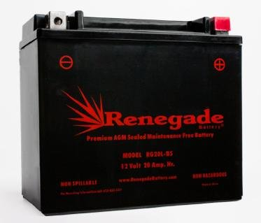 Motorcycle Battery; RG20L-BS; Harley 2002 Heritage Springer; Part# 65989-97A/B/C, ES20LBS, BTX20L-BS, YTX20L-BS