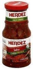 Herdez Salsa, Casera, Medium, 16-Ounce (Pack of 6)