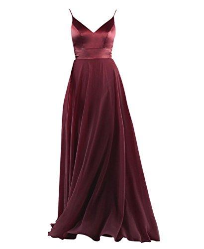 8038324ba0e XJLY Simple Sweetheart Spaghetti Strap Long Chiffon Bridesmaid Dresses  Party Dress