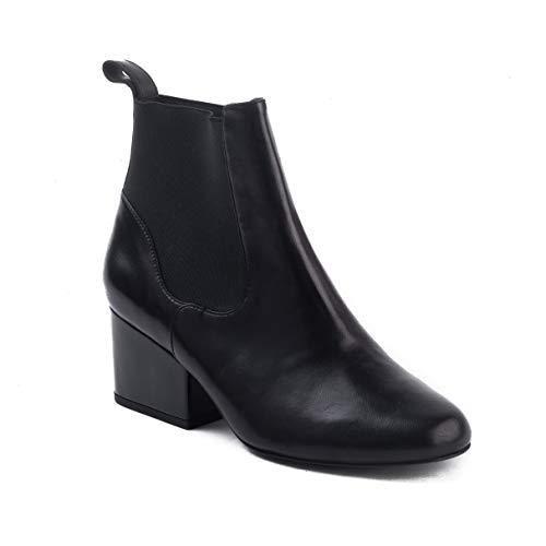 (Robert Clergerie Women's 'Moon' Chelsea Bootie Black Shoes)