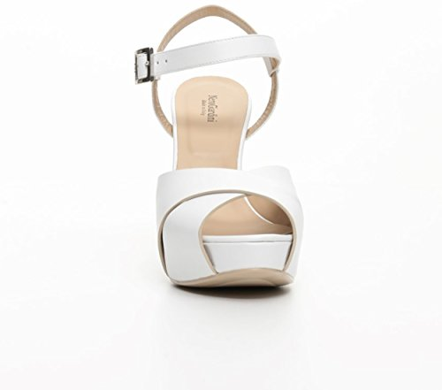 Nero Giardini Sandalen elegante hochhackige P717900DE 707 TIGERS WHITE TPU ESMERALDA NATURE neue Frühlings- und Sommerkollektion 2017