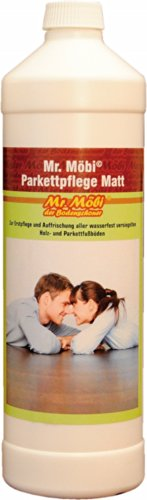 Mr.Möbi© Parquet Care Dull/Mat, 1 ltr. - First care and freshening of parquet and waterproof sealed wooden floors