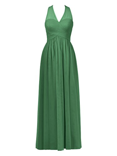 Dress Neck Prom Evening Alicepub Tulle Emerald Party Long Dress Women's V Bridesmaid Gown zppa5qwxHF
