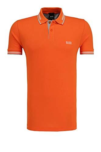 BOSS Green Men's Paul Short Sleeve Slim Fit Modern Polo, Medium Orange, XXXL