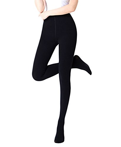 Footed Leggings - Romastory Winter Warm Women Velvet Elastic Leggings Pants (Footed-Black)