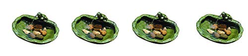 (Smart Solar 22300R01 Solar Powered Ceramic Frog Water Feature, Green Glazed Ceramic, Powered by an Included Solar Panel That Operates an Integral Low Voltage Pump with Filter (Pack of 4))