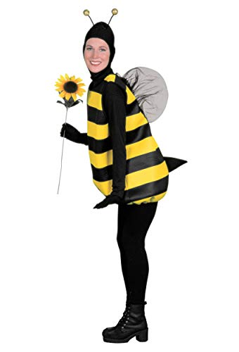 Forum Novelties Women's Complete Bumble Bee Adult Costume, Small, Black/Yellow]()
