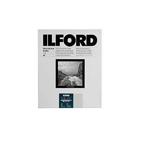 Ilford Multigrade IV RC Deluxe Resin Coated VC Paper, 8x10-Inches, 25-Pack (Pearl) (2 Pack) by Ilford