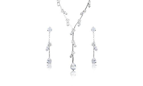 Stellux Austrian Crystals Water Drops Wedding Jewelry Set - Clear Stones - Mall of - Mall Shops Clear Water