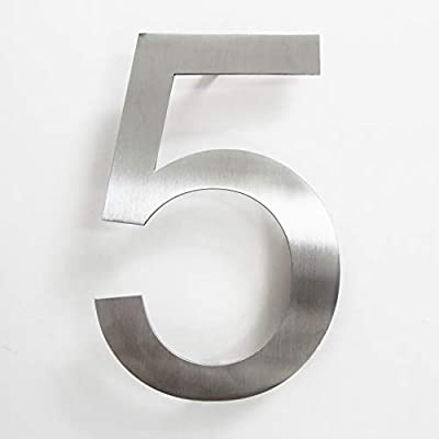 number 6//9 Nanly n/úmeros de casa de acero inoxidable adhesivo hecho de acero inoxidable 304 s/ólido aspecto flotante altura 7,5 cm//3 pulgadas