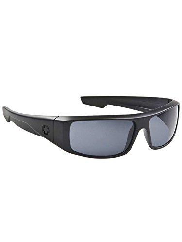Spy Logan Sunglasses Matte Black With Happy Gray Green Polarized Lens (Spy Optic Logan)