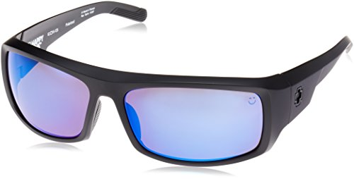 Spy Optic Admiral Polarized Wrap Sunglasses, 62 mm (Matte Black)
