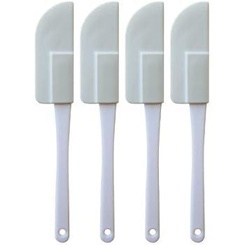 Set of 4 Flexible Rubber Mini Scraper, Spatula