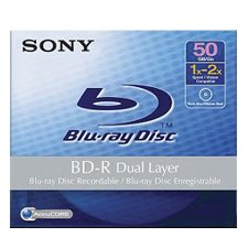 Disc, Blu-ray, Dual Layer, 50GB, 1-4X Write Once, Single Disc w/ Hang Tab [Non - Retail Packaged]