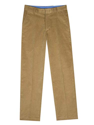 Izod boys Corduroy Flat Front Dress Pant, Antigue Bronze, 12