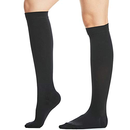 Beister Closed Toe Knee High Calf Compression Socks for Women & Men, Firm 20-30 mmHg Graduated Support for Varicose Veins, Edema, Flight, Pregnancy