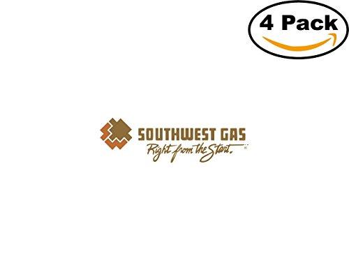 Southwest Gas 4 Stickers 4X4 Inches Car Bumper Window Sticker Decal