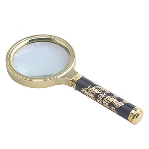 Loupe Magnifier Handheld Portable Retro Magnifying Glass HD Lens for Book Reading, Jewelry Identification, Watches, DIY Crafts Carving and Repair LIXFDJ Vision Assisted Magnification